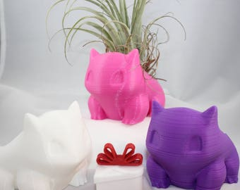 Bulbasaur Planter | succulent pot | Pikachu | Bulbasaur | 3d printed | Pokemon | planter | oddish | monster | Pokemon Planter