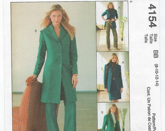 McCalls 4154 - MISSES Lined Jacket, Skirt & Pants / Sizes 8, 10, 12, 14