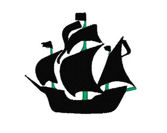 Pirate ship embroidery design, Pirate ship machine embroidery design, pirate embroidery pattern, Pirate design, ship design