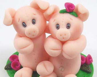 Stand By Me Polymer Clay Piglets