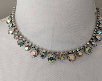 Bride Ready All Aurora Borealis Crystal Necklace
