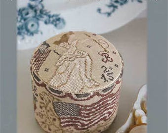 BLACKBIRD DESIGNS Lady Liberty Drum Pinkeep counted cross stitch patterns at thecottageneedle.com USA 4th of July