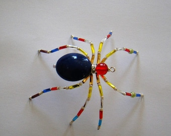 Colorful Beaded Spider - Julie
