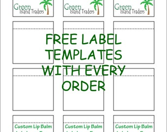Blank Label Sheets Waterproof Labels Vinyl Labels Jar Labels Lip - Lip balm label template