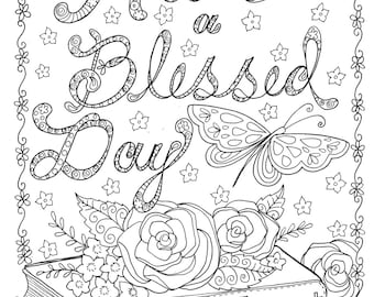 INSTANT DOWNLOAD Coloring page to Color Christian Scriptures/bible/church/digital art/digi stamp