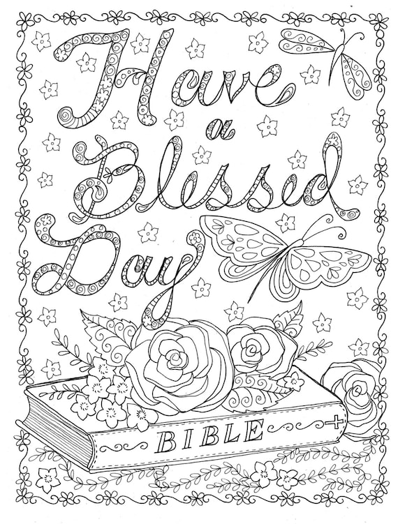 INSTANT DOWNLOAD Coloring page to Color Christian