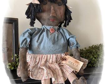 Celia~Primitive rag doll