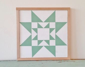 Rising Star Barn Quilt Block-13""