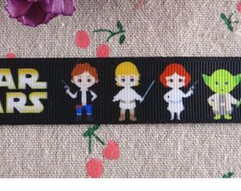 "7/8"" Star Wars grosgrain ribbon"