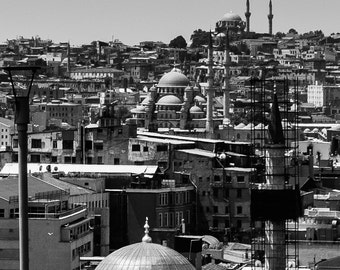 black and white landscape photography, turkey, fine art photography, istanbul, urban, islamic city, mosque