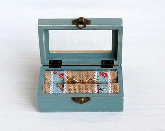 Rustic wedding box, Rustic ring holder, Ring bearer box, Wedding ring box, Rustic bearer box, Wedding Ring Holder, Pillow Ring Bearer Box