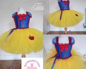 Snow white inspired tutu dress - photo shoot - party dress - birthday girl - princess