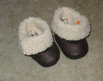 Slipper / boots faux fur 3-6 months