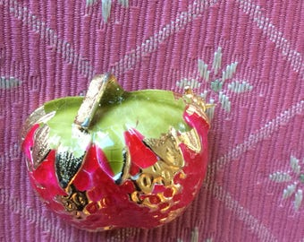 Vintage Accessocraft Strawberry Pin