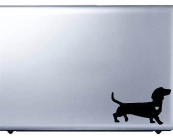 Love A Dachshund Decal - FREE US SHIPPING