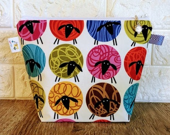 Colorful Sheep Project Bag