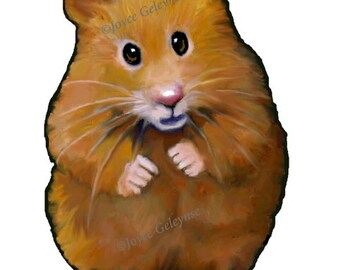 Clip Art: Hand Drawn Hamster,  Animal Clipart, Freehand Color Pencil Drawing, Commercial Use Clipart,  jpg and png files, INSTANT DOWNLOAD