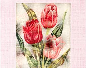 """ETSY BIRTHDAY SALE Tulips Needleart World Needlepoint Kit 8""""X10"""""""