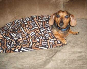 Burrow Bag Fleece Snuggly Dog Ferret  Bed Dachshund