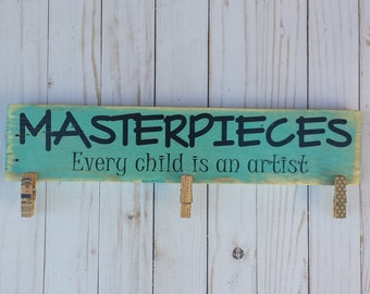 Masterpieces - Every Child Is An Artist - Look What I Made - Kid Artwork Display - Child Artwork Display - Child Craft Picture Display
