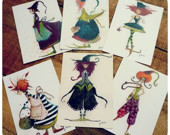 Collection of 6 postcards
