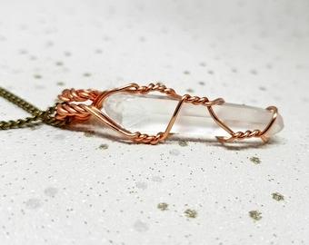 Clear Quartz Crystal Necklace, Clear Quartz Crystal Point Necklace, Clear Quartz Necklace, Clear Quartz, Crystal Point Necklace