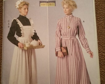 Butterick 6229 Downton Abbey Victorian Maid Costume Pattern size 14-22