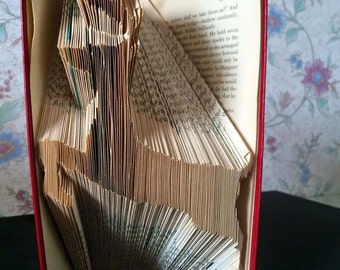 Leaping Reindeer Book Folding Pattern