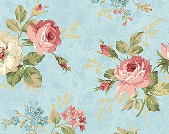 Northcott Studio - Vintage Rose by Deborah Edwards