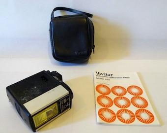 SALE Vivitar Auto Flash Model 252 with Case & Instruction Manual