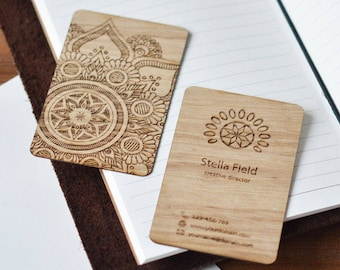 Wooden business cards wooden card business card wooden 15 business cards custom business cards blank business card personalised card business reheart Gallery