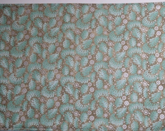 FREE SHIPPING - Aqua, Gray and Taupe placemats, cloth placemats, washable placemats, placemats, reversible placemats