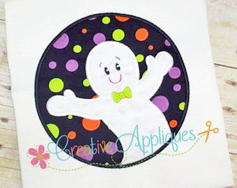 Ghost Halloween Digital Machine Embroidery Applique Design 4 Sizes, ghost applique, halloween applique, halloween ghost applique, casper