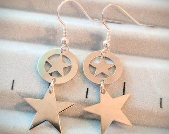 Captain America The Winter Soldier Earrings - Captain America Earrings - The Winter Soldier Earrings - CA:TWS