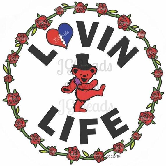 Small Grateful Dead Dancing Bear Lovin Life 2 Sticker