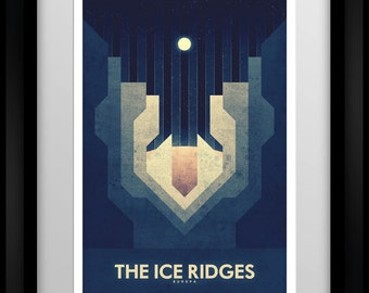 Space Travel Poster - Europa - The Ice Ridges