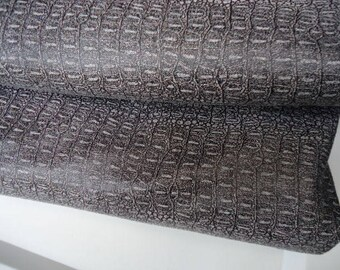 SALE - Coupon - FLASH 50X50cm - faux leather - grey snake skin-