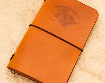 Leather Moleskine Cahier/Field Notes Notebook Cover (Medical Eye)