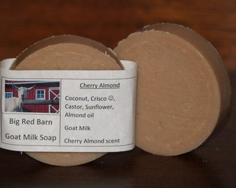 Cherry Almond Goat Milk Soap - Big Red Barn Goat Milk Soap