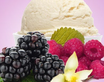 Black  Raspberry and Vanilla scented soy candle. Free Shipping!
