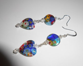 Milifiore Glass pierced earrings