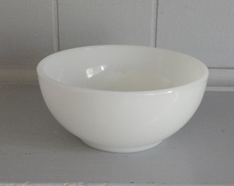 White Milk Glass Fire King Cereal Bowl