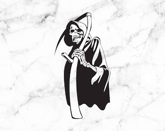 Grim reaper decal, grim reaper sticker, death decals, death stickers, Reaper decals