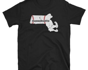 Massachusetts Mom Baseball Apparel Softball Moms Shirt