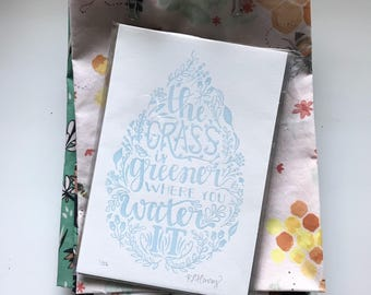 "4.75""x7"" The Grass Is Greener 