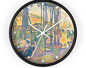 The Evening Air By Henri-Edmond Cross, Art Print Wall Clock