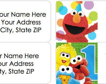 PERSONALIZED ELMO Address Labels - Set of 30! 4 Different Styles Available