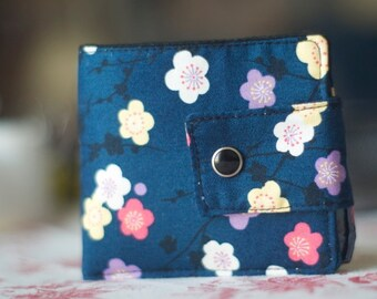 Fabric Wallet | Billfold Wallet | Vegan wallet | Minimalist Wallet | Sakura wallet |