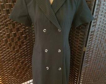 Morton Bernard Ladies Button down Dress Black Check Measurements Office Casual  Morton Bernard Womens Casual Dress