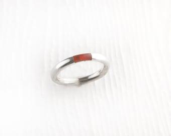 Simplistic Carnelian Sterling Silver Ring